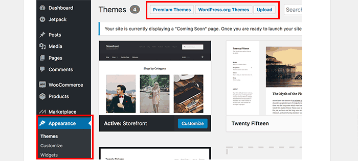 Change WooCommerce Store theme