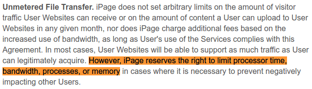 iPage User Agreement