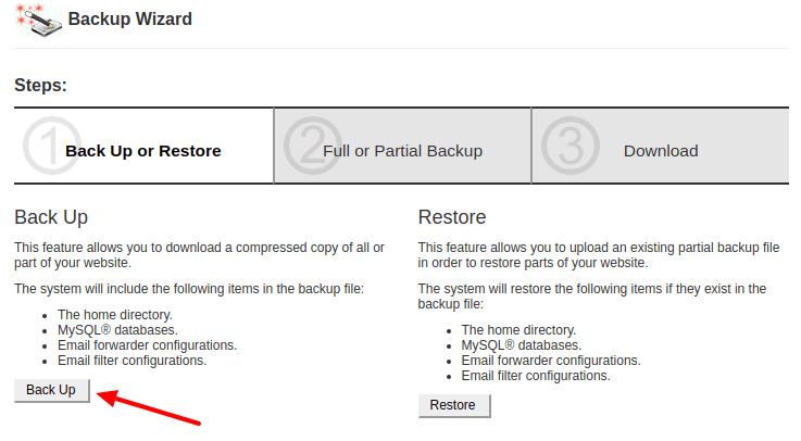 Backup Your Website with cPanel
