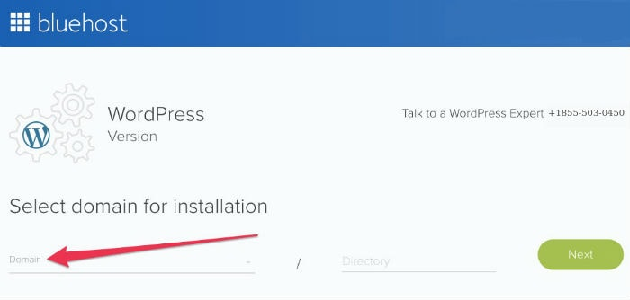 Bluehost Domain WordPress Installation