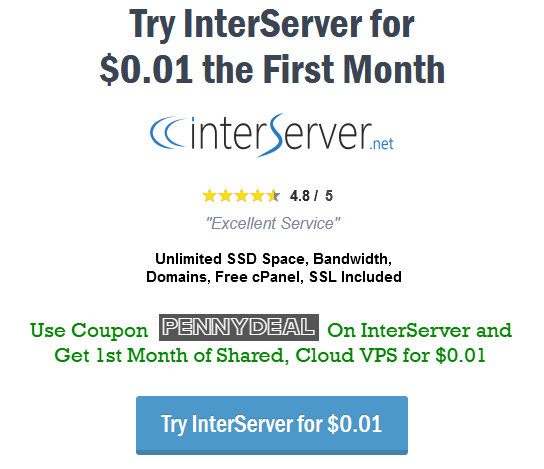 interserver 1 cent coupon, interserver free trial