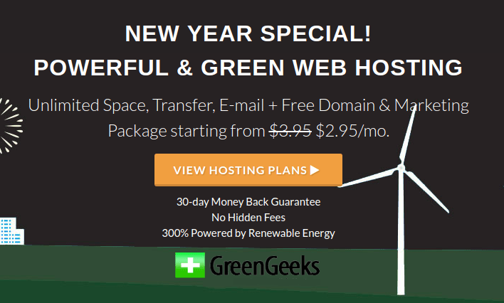 GreenGeeks New Year Sale
