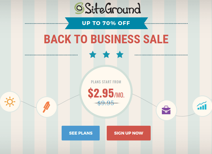 Siteground Labor Day Web Hosting Sale