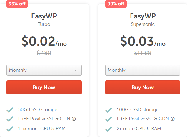 NameCheap EasyWP Sale